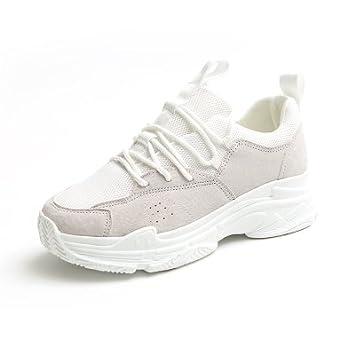 NGRDX&G Zapatillas Mujer Zapatillas Blancas De Colores Mixtas, Blanco, ...