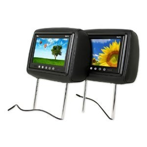 Tview T921pl-black Car Headrests with 9 Inch Tft-lcd Monitors