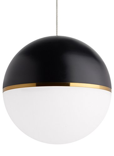 Modern Akova Pendant FreeJack in Aged Brass with Acrylic & Metal Shade