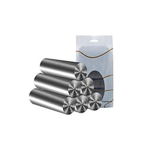 Home Storage Thickened Break Garbage Bag Kitchen Portable Silver Steel Bag Home Black Large Disposable Garbage Bag 6 Roll,Gray
