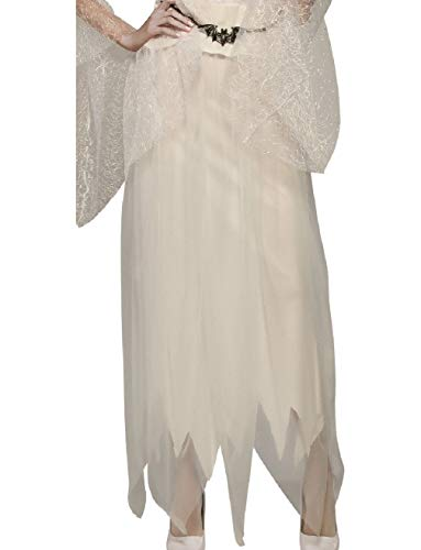Womens White Ghostly Tattered Ragged Spirit Skirt Costume Accessory ()