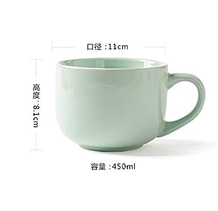Taza de cerámica taza de avena, agua, leche, taza, taza, taza