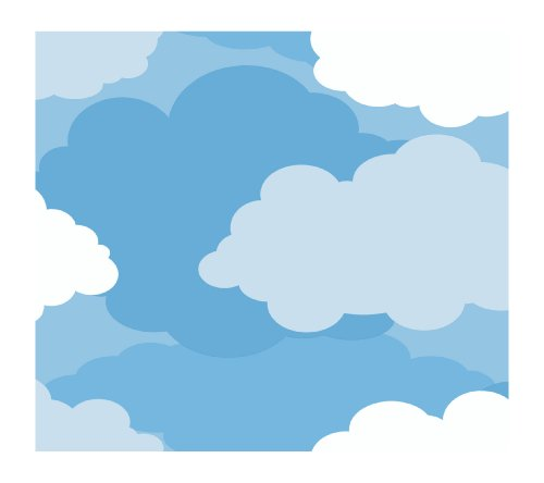 - York Wallcoverings Just Kids Cloud Sidewall Removable Wallpaper, Dark Blue