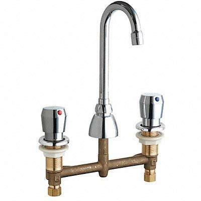 Gooseneck Faucet Metering Push Button by Chicago Faucets