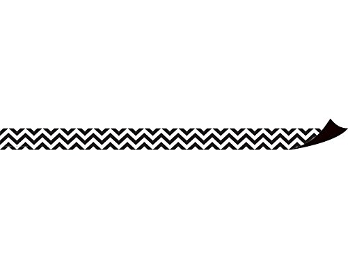 Teacher Created Resources Black and White Chevron Magnetic Strips (77137)