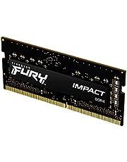Kingston Fury Impact 16GB 3200Mhz DDR4 CL20 SODIMM Memoria Gamer Para LAPTOP Color Negro (KF432S20IB/16)