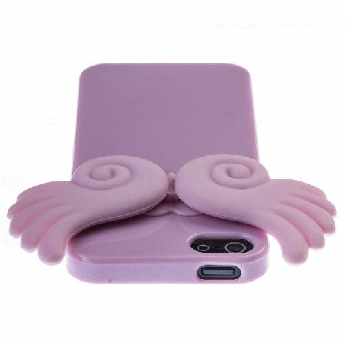 Zooky® rosa Engel Flügel Hülle / Schutzhülle / Cover für Apple Iphone 5 / 5S / SE