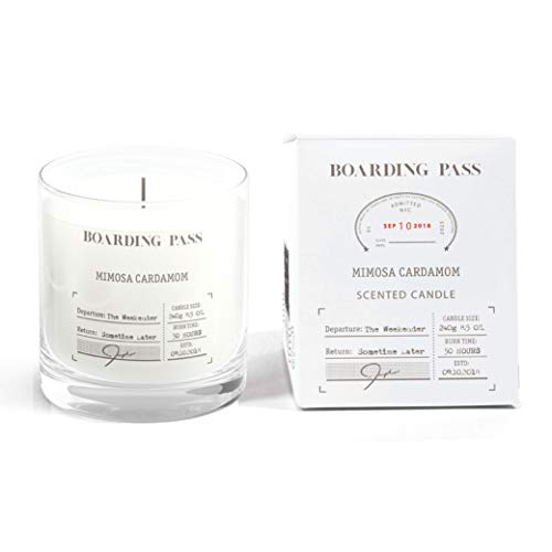 Boarding Pass The Weekender Cardamom Mimosa Scented Candle Clear 5.6oz...