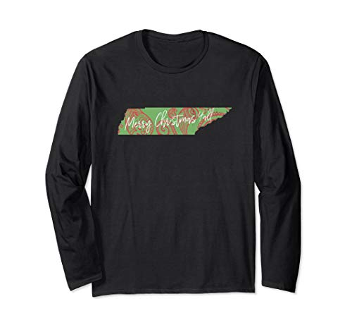 Merry Christmas Yall Tennessee Paisley Holiday Party Shirt -