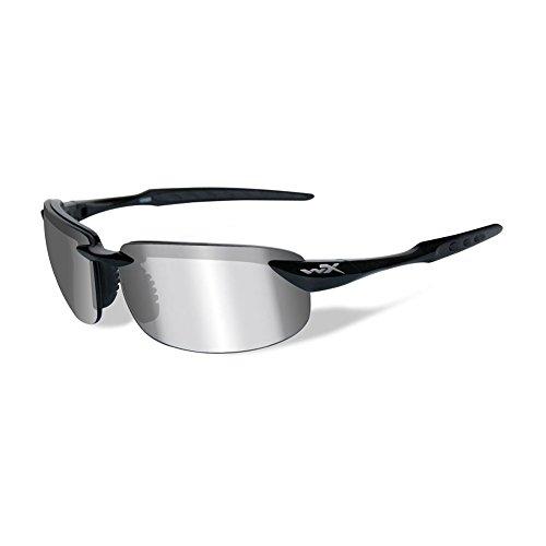 Wiley X Tobi Sunglasses Polarized Silver Flash/Gloss Black ACTOB04