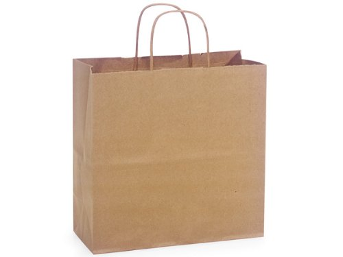 Pack Of 250, Joey 10 X 5 X 10'' 100% Recycled Brown Kraft Paper Bags Solid Made In USA