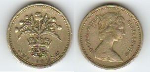 1984 GREAT BRITAIN POUND -- EXTRA FINE CONDITION