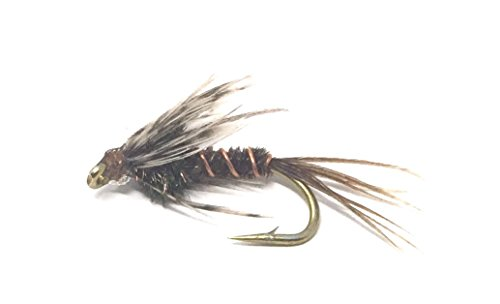 Feeder Creek Fly Fishing Trout Flies - Soft Hackle - 12 Wet Flies - 4 Size Assortment 12, 14, 16, 18 (3 Each Size) Trout Other Freshwater Fish - Fishing Soft Hackle Flies