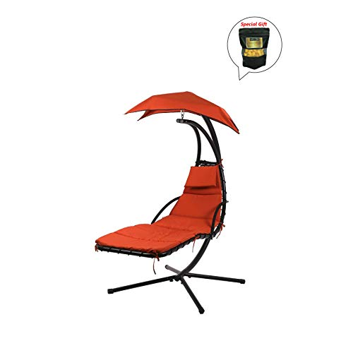 allgoodsdelight365 Hanging Chaise Lounger Chair Arc Stand Ai