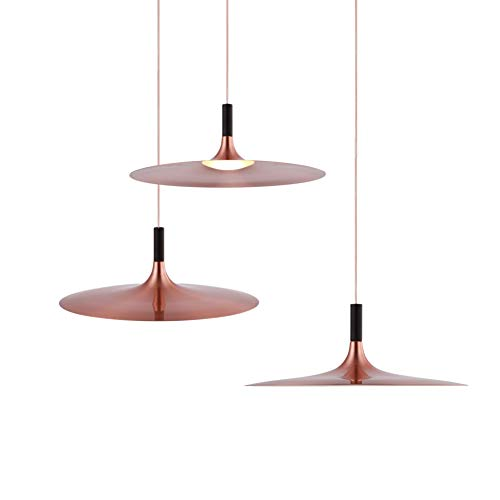 LED Pendant Lamp, LENGGO 5W Equal 50W Halogen Ceiling Hanging Lights Fixture Rose Copper perfect for Kitchen Island, Restaurant, Bar, Cafes, Dinning Room 1 Pack