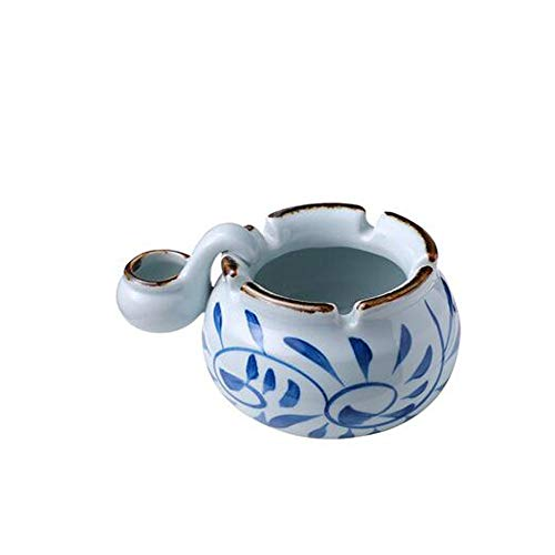 - NXiang Living Room Decoration, Hand-painted Ceramic With Sink Ashtray Desktop Small Ornaments, Living Room Coffee Table Desktop Decorations Practical Gifts Hourglass, timer (Style : B)