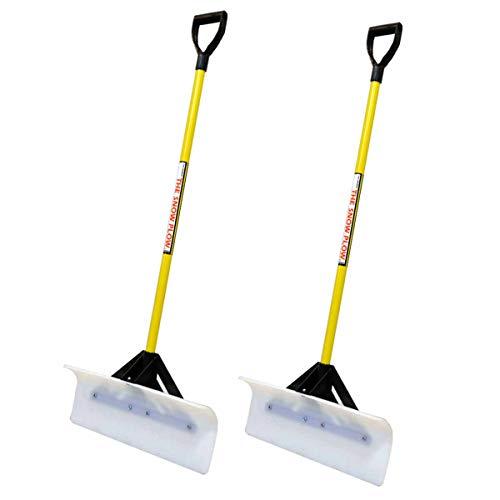 2PK Snow Plow 24″ Wide Shovel Push Plow Commercial Residential D-Grip 50524