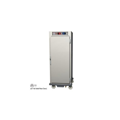 - Metro C599L-NFS-UPFS C5 9 Series Pass-Thru Heated Holding Cabinet, Full Height, Aluminum, Full Length Solid Door/Full Length Solid Door, Universal Wire Slides