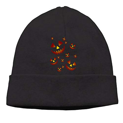 Unisex Thick Oversized Cable Knitted Fleece Lined The Pumpkins Beanie Hat with Hair Tie.