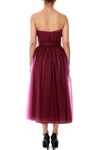Tulle Party Formal Gown Convertible Dress Length MACloth Violett Bridesmaid Tea Wedding 0qBWUTX7