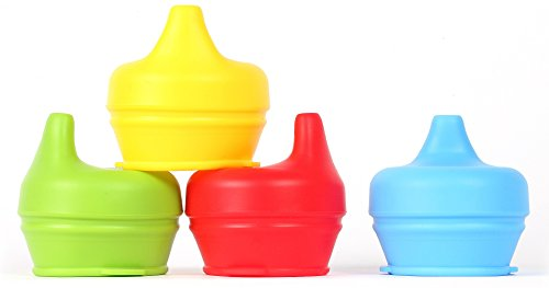 Silicone Sippy Lids Pack Stretchable