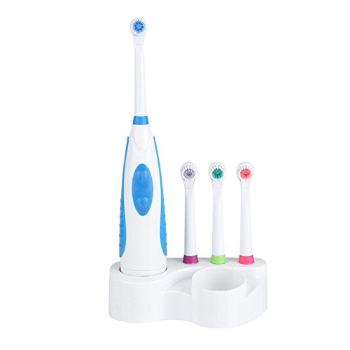 Electric Toothbrush, Electronic Whitening Brush Travel Cleaning Toothbrush Oral Care Battery Power (Blue)
