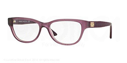 Versace Eyeglasses VE3204 5029 Mattte Transparent Violet 51 15 - Gianni Versace Eyeglasses