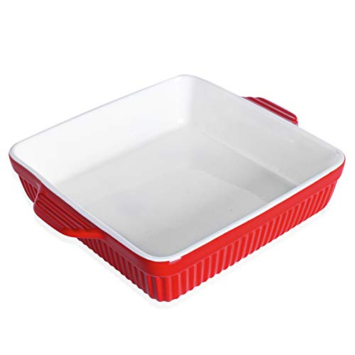 Kanwone Baking Dishes, Ceramic Bakeware, Square Casserole Dish with Double Handle, Lasagna Pans for Cooking, Kitchen…