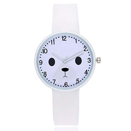 Shocknshop Cute Face Design Simple Women's Jelly Silicone Quartz Sport Watch for Girls & Kids (White) (B07LG8VNLD) Amazon Price History, Amazon Price Tracker