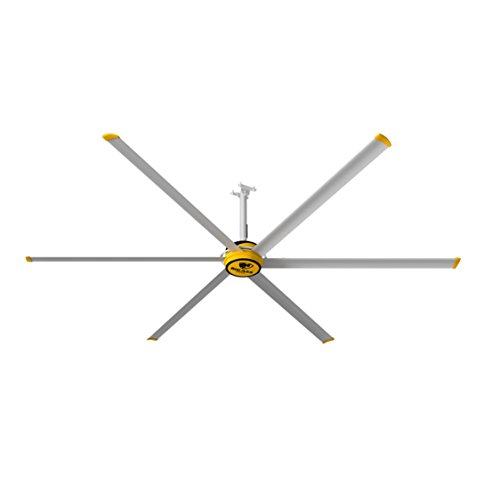 Big Ass Fans 3600 Silver/Yellow Shop Ceiling Fan