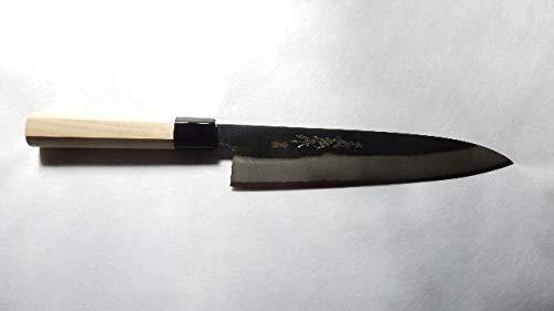 Yoshihiro Yasuki Blue Stee(Aogami) l #2 Warikomi,KUSP Chef's Knife/Gyuto Black Professional Octagonal Handle (210mm/8.3'')