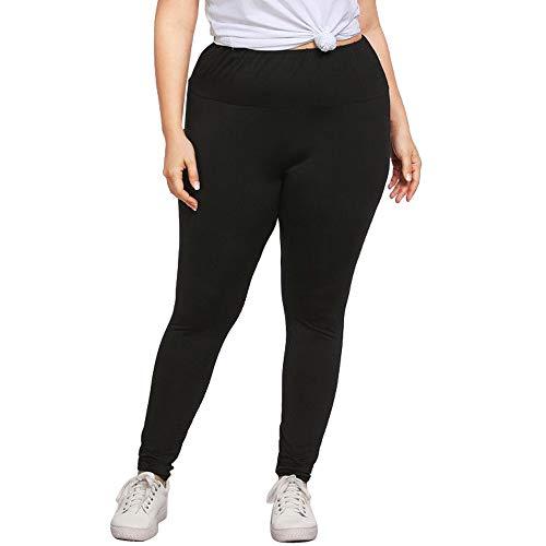 POQOQ Pants Fashion Plus Size Womens Sexy Leggings Trousers Yoga Sport Casual XXL Black -