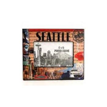 Amazon.com | SM Seattle Picture Frame Stamp Theme Epoxy Finish ...