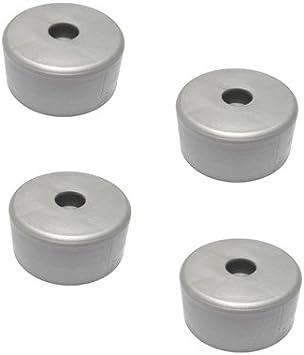 bum24-4er Set Kunststoff-M/öbelgleiter zum Anschrauben 40 x 20 mm schwarz