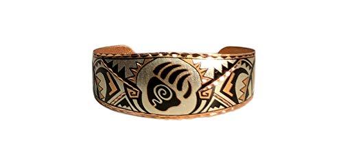 Copper Cuff Bear Claw Wrist Bracelet Southwest Native Apache Design ()