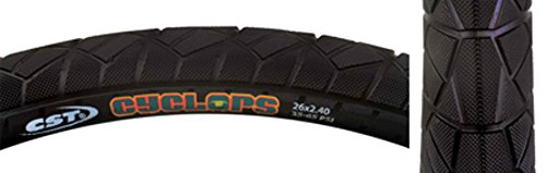CST Cyclops Pro Tire 26x2.4 Black Steel Bead by CST