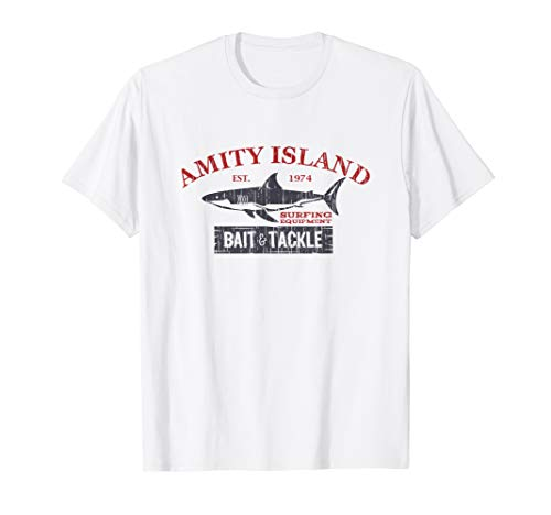Amity Island Bait and Tackle Distressed Fishing T-Shirt