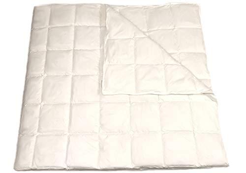 OrganicTextiles White Down Alternative Comforter/Duvet Insert, Encased In 100% Organic Cotton, Heavyweight, Hypoallergenic, King Size