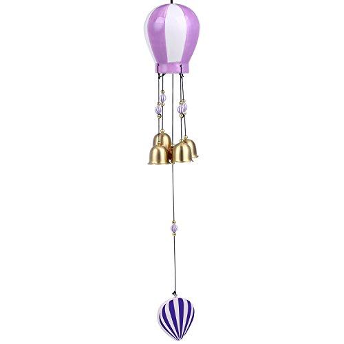 Soledi Wind Chimes Ceramic Purple Creative Hot-air