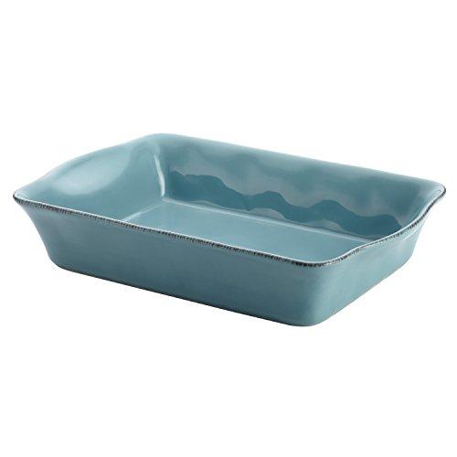 Rachael Ray Cucina Stoneware 9-Inch x 13-Inch Rectangular Baker, Agave Blue (Baker Ceramic)