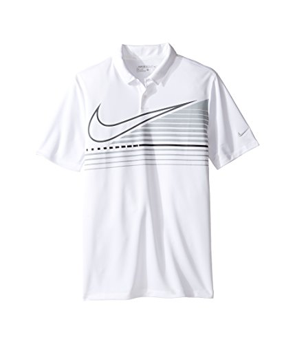 Nike Boys Victory Graphic Golf Polo, (White, M) Kids Graphic Polo