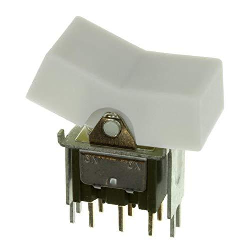 SWITCH ROCKER DPDT 6A 125V (Pack of 5) (M2022TZW13-JB) by NKK Switches
