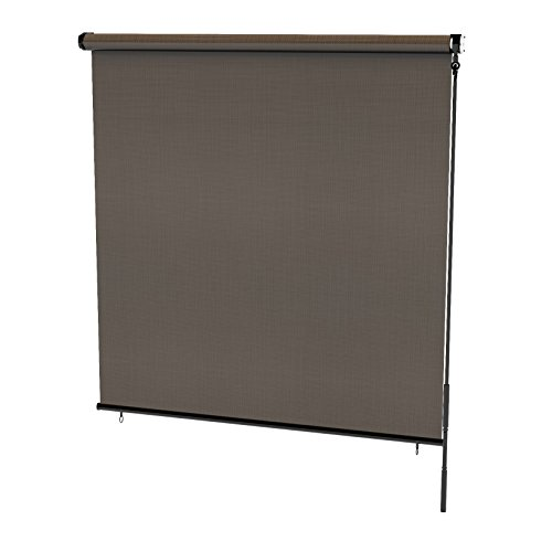 Radiance 0371648 Cordless Exterior Solar Shade Coconut Brown, - Exterior Shade Sun