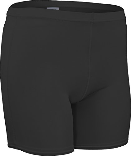 CL-111-CB Men's and Women's Mid-Weight Compression Short-Tight Form Fitting Material Provides Unmatched Flexible Support (XX-Large, Black)