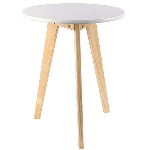 Modern Wood End Table,Round Coffee Table, Perfect Side Telephone Table for Magazines, Books and Plants Accent Table Olive