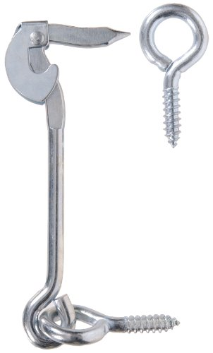The Hillman Group 851936 6-Inch Heavy Safety Hook with Screw Eye, Zinc Plated by The Hillman Group (Image #1)
