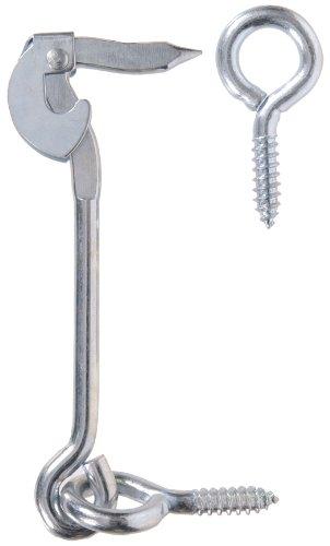(Hillman Hardware Essentials 851936 Safety Hook and Eye Latch Zinc 6