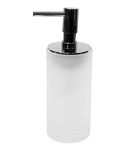 Gedy Tiglio Free Standing Glass Soap Dispenser, Transparent White
