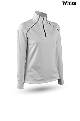 Sun Mountain Second Layer Golf Pullover 2016 Womens White Large by Sun Mountain (Image #2)