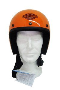 Jet Casco Bandit Model Type ECE 22 – 05 Moto Casco Color Naranja Metalizado Pegatinas Logo